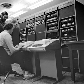 Dennis Ritchie with Ken Thompson working on Unix and C