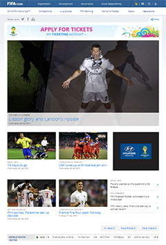 Fifa.com Worldcup 2014 - redesign