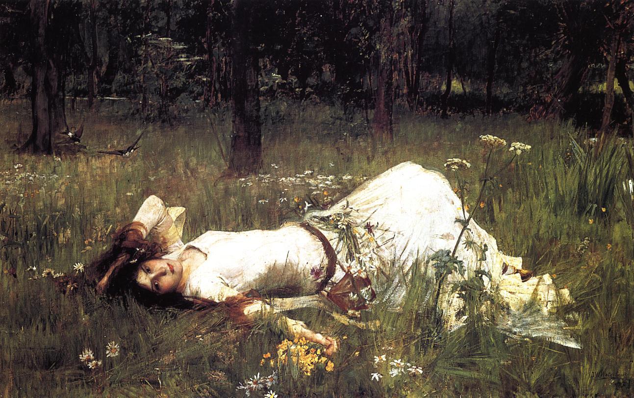 Ophelia - John William Waterhouse - Download Wallpaper