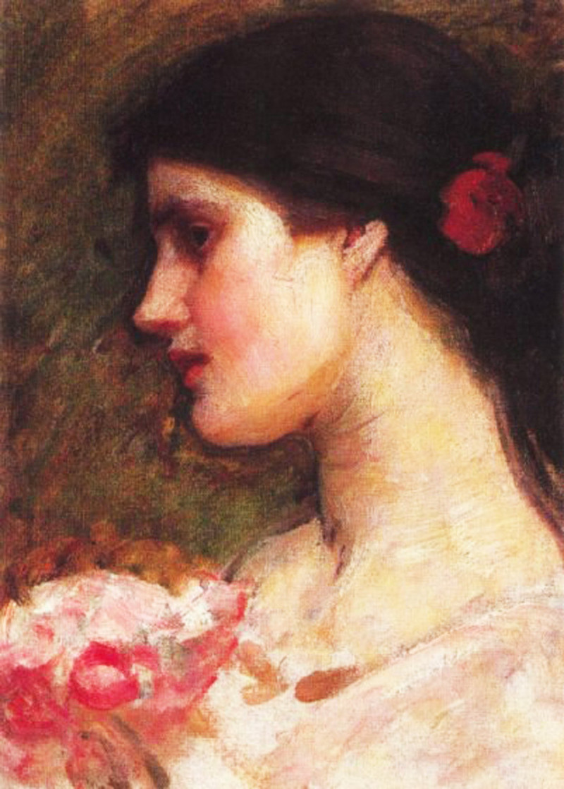 John William Waterhouse - Camelias study