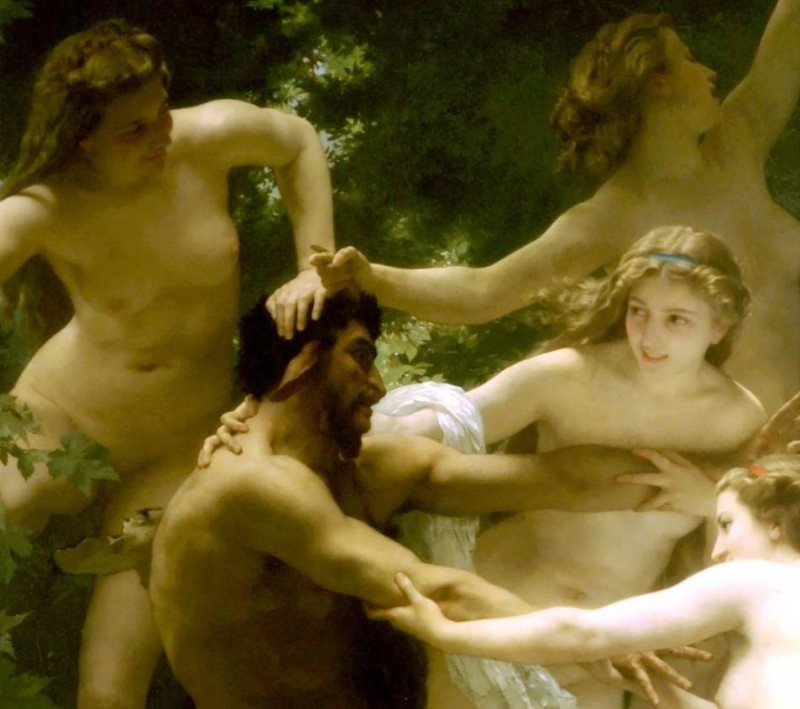 Nymphs and Satyr - Detail - William Adolphe Bouguereau - 1873