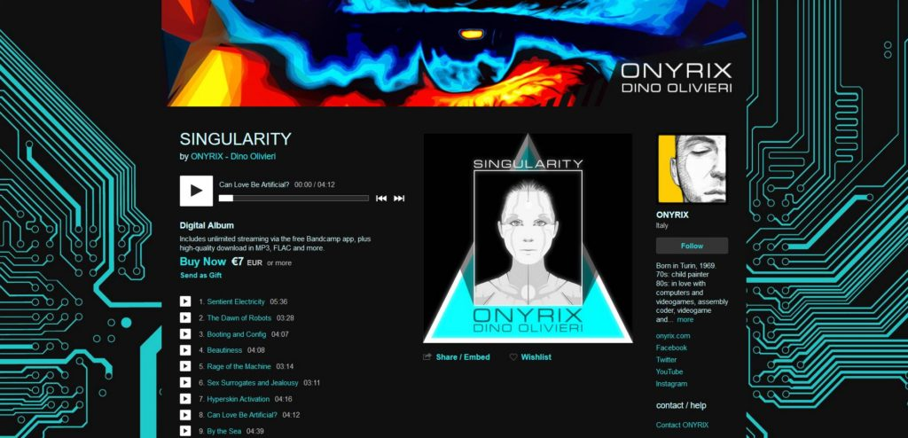 ONYRIX / Dino Olivieri - Singularity Album Screenshot