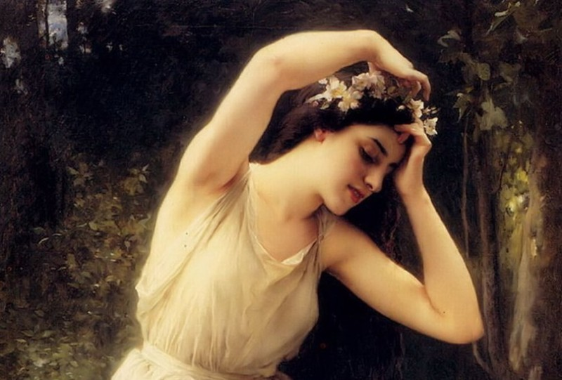 The Song of Wandering Aengus - A Nymph in the Forest Charles Amable Lenoir