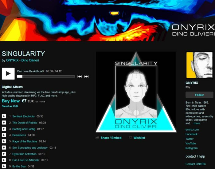 Singularity by Onyrix / Dino Olivieri - electronica - soundtrack