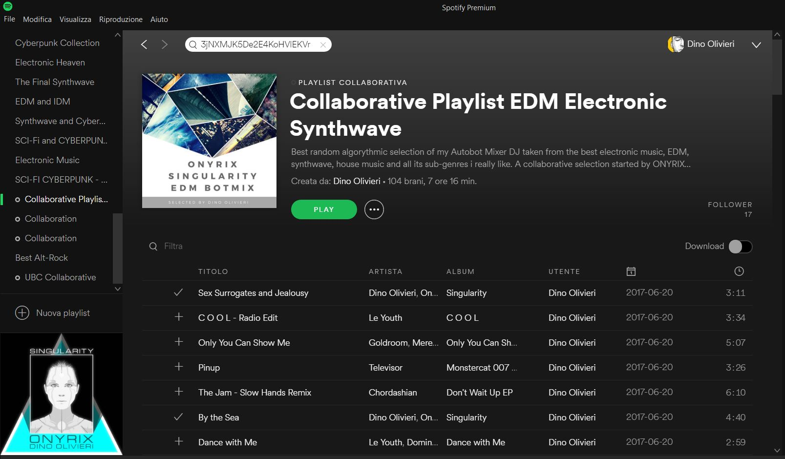 EDM and Electronic SPOTIFY Open Collaborative Playlist